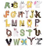 SUPVOX 26 Piezas Parche de Ropa de Animales Letras Parches Bordados Patch Sticker Apliques para Camiseta Chaquetas Bolsas