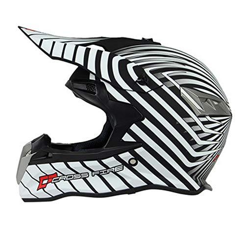 MRDEAR Casco Motocross MX Hombre - Diseño de Rayas/Dot - Casco Cross...