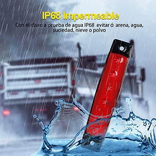 10 Lateral Led Luces De Marcador Para Camión Remolque Rojo