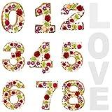 Numeri Di Torte Di Tortiera Forma Del Numero Della Torta Numero Torta Pan Cottura Compleanno I Numeri Della Teglia Sono Grandi Tortiera A Forma Di Numeri per Torta Digitale Giorno Speciale (2 Set)