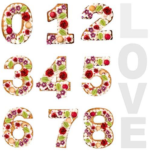 Números De Tartas De Molde para Pastel Forma De Número De Pastel Número Pastel Pan Hornear Cumpleaños Molde para Hornear Molde De Pastel De Números para Aniversario Bodas Cumpleaños (2 Juegos)