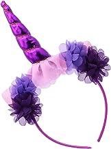 PRETYZOOM Eenhoorn Hoofdband Bloemen Kat Oor Haarband Cosplay Haar Accessoire Voor Verjaardag Halloween Carnavals Party