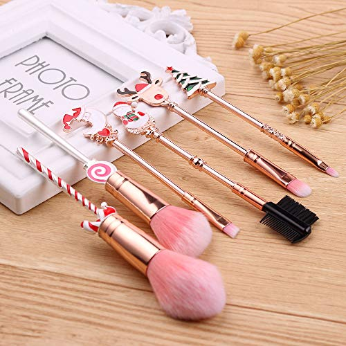 Candy Christmas Makeup Brush Old Man Moose Cute Candy Carry Mini Makeup Tool Set Candy Christmas Makeup