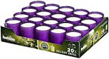 Bolsius Set of 20 Relight Party, Restaurant Votive Candles in Purple Cup Burns Aprox. 24 Hour