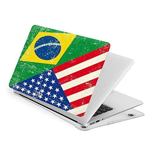 Laptop Case for MacBook American and Brazilian Flags Laptop Computer Hard Shell Cases Cover (New Air13 / Air13 / Pro13 / Pro15)