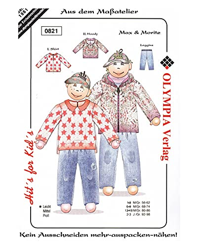 Olympia Creativ-Schnittmuster Shirt & Hoody & Leggins Größe 92-98 (0821)