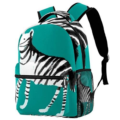 Hanhan Sac à dos en mollet pour adolescents et écoliers Multicolore 05 29.4x20x40cm/11.5x8x16 in
