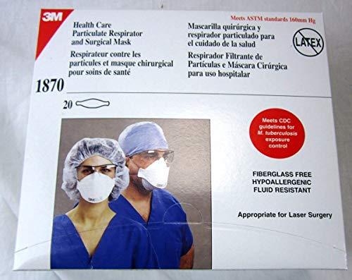 3m 1870 medical mask n95 20 count