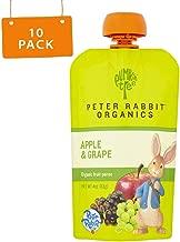 Peter Rabbit Organics, Apple & Grape puree, 4oz. Pouches (Pack of 10)
