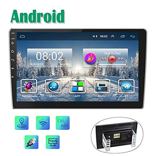 Android Autoradio GPS 9'' Auto Radio CAMECHO 2 Din Touchscreen FM AM Radio Bluetooth WiFi Handy Spiegel Link mit Dual USB