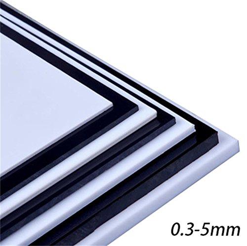 ABS Kunststoffplatte Platte Klar Glatt Oberfläche 8 × 9 - 0.3-5mm Schwarz Weiß Für Modellwand Design