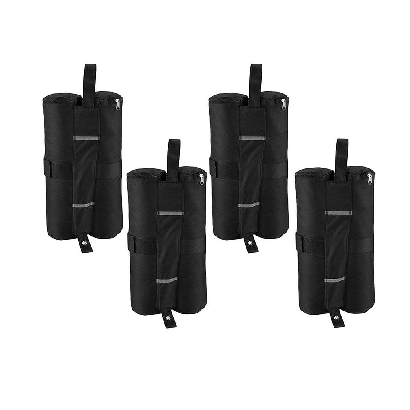 記録解放する可動式Blackfell 4ピースポータブルキャノピーテントウェイトバッグ屋外サンシェルター防風サンドバッグ用インスタント脚テントスタンド固定サンドバッグ