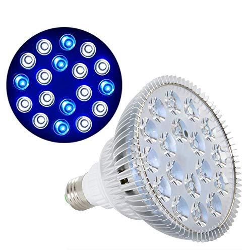 WhYlzh Luces de Acuario 54W IR UV Crecer Bulbo de la lámpara del Acuario del Tanque de Pescados Pescados de la luz de iluminación for el Agua Salada Marina Coral Reef sumidero Alga