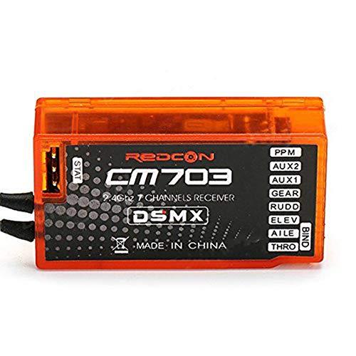 Redcon Empfänger, CM703 2.4G 7CH für DSM2 / DSMX kompatibler mit PPM-Ausgang