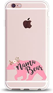 iPhone 7 Plus Case for Her,iPhone 8 Plus Case,Cute Couples Things for Girls Boys,PaPa Bear Mama Bear Princess & Prince Couple Matching Funny Parent Mom Soft Clear Case for iPhone 8 Plus-Queen
