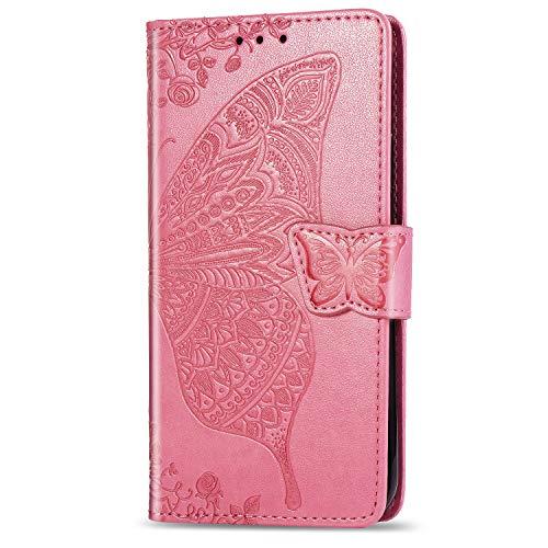 Hülle Handyhülle for Huawei [Mate 10 Lite], Premium Leder Flip Schutzhülle [Standfunktion] [Kartenfächer] [Magnetverschluss] lederhülle klapphülle für Huawei Mate10 Lite - TTSD010136 Rosa