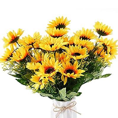 Beferr Artificial Sunflower Forever Flowers Bun...
