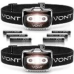 Vont 'Spark' LED Headlamp Flashlight (Batteries Included)