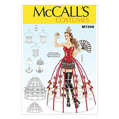 McCall's Damen Schnittmuster 7306 Korsett & Crinoline Cage Kostüm