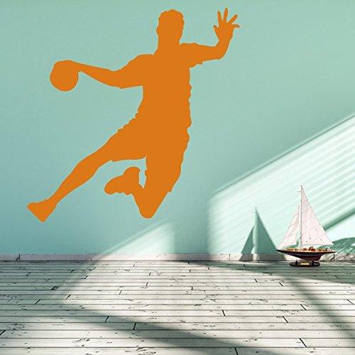 denoda® Handballer - Wandtattoo Gold 100 x 101 cm (Wandsticker Wanddekoration Wohndeko Wohnzimmer Kinderzimmer Schlafzimmer Wand Aufkleber)