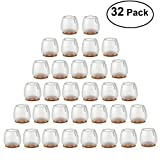 NUOLUX 32pcs Silicone chaise casquettes pieds tampons mobilier Table couvre plancher protège-jambes...