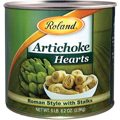 Roland Foods Roman Style Artichoke Hearts with Stalks, Specialty Imported Food, 5 Lb 8 Oz Can
