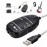 Similitwell - Cable Adaptador de Conexión para Guitarra Eléctrica a USB, Mac/PC, Mac, Grabación de Guitarra, Interfaz de Grabación, Mac/PC, Mac