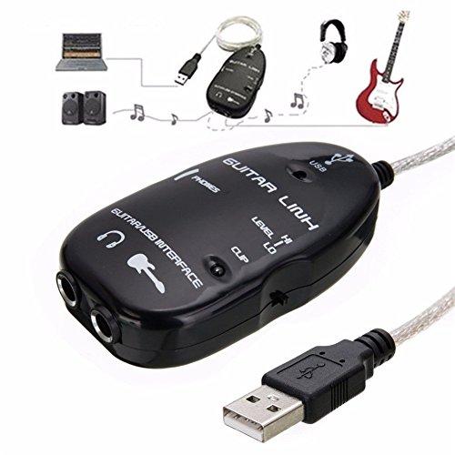 Similitwell - Cable Adaptador de Conexión para Guitarra Eléctrica a USB, Mac/PC,...