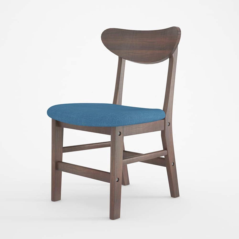 Qjifangyizi Hoher Hocker, Hölzerne Rückenlehne Gepolsterter Fußpedal-Sitz-hölzerner Fußpedal-Sitz-hölzerner Fußpedal-Sitz-hölzerner Frühstück-Hauptcafé-Stühle (Farbe   Walnut Farbe - Blau Cloth) B07PC1JZ1P | Bekannt für seine schöne Qualität  1d002d