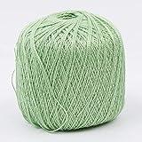 LINGE 400 Metros de Hilo de Hilo de Hilo de algodón para Bordar Crochet Tejer Herramienta de artesanía de Encaje Herramienta de Hilo de Coser a Mano, Verde
