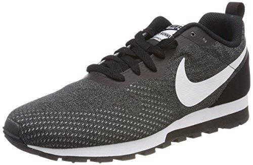 Nike MD Runner 2 ENG Mesh, Scarpe da Ginnastica Uomo, Grigio (Black/White/Gunsmoke 004), 49.5 EU
