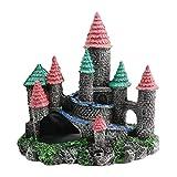 1 pieza de acuario muebles de pecera decoración pecera castillos de piedra para peces pequeños, molly fry, guppies, camarones y cíclidos