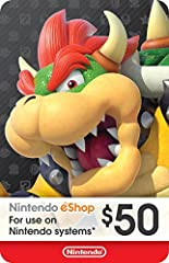 This item can be redeemed on eShop only. This item cannot be redeemed on the Wii Shop The perfect gift for anyone who loves to play—including you. Choose from over 1,000 new, classic and indie games – delivered directly to your Nintendo Switch, Wii U...