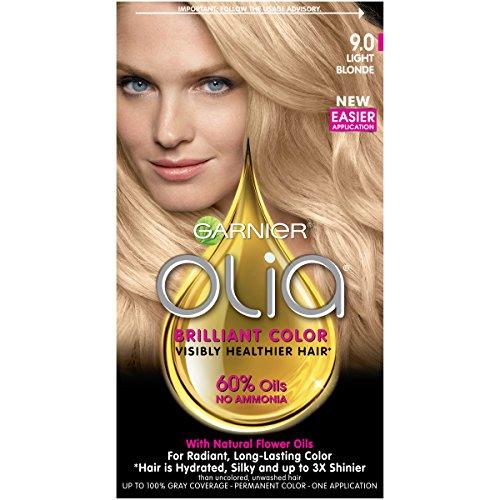 Garnier Olia Ammonia-Free Brilliant Color Oil-Rich Permanent Hair Color, 9.0 Light Blonde (1 Kit) Blonde Hair Dye