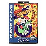 Jhana Mega Bomberman With Box for Sega 16 Bit MD Game Card for Mega Drive for Video Genesis Console (US EU Shell)