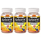Airborne Assorted Fruit Flavored Gummies, 42 Count - 750mg of Vitamin C and Minerals & Herbs Immune Support (Packaging May Vary) (Pack of 3)