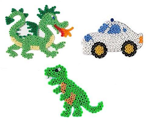 Hama Midi Stiftplatten Drache ,Dino und Auto