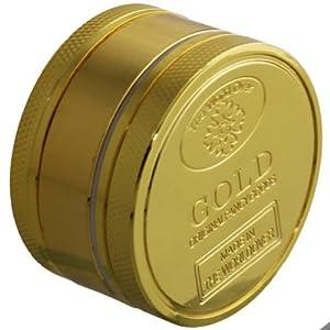 """Original Oramics Tabakmühle """"Gold"""" / Grinder für Tabak - Dreiteiliges Set - Magnetverschluß - Absolut Einzigartig!"""