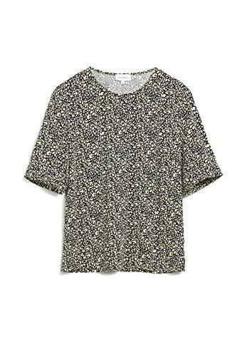 ARMEDANGELS LORIAA Offspring - Damen Bluse aus LENZING™ ECOVERO™ M Night Sky Bluse Kurzarm Relaxed Fit