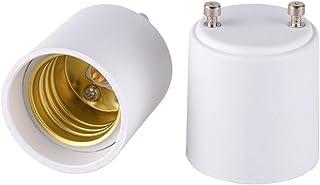 آداپتور Onite 2pcs GU24 to E26 E27 برای لامپ LED ، GU24 به Medium Base فیکسچر پایه پین شما را به سوکت لامپ پیچ گوشتی استاندارد تبدیل می کند