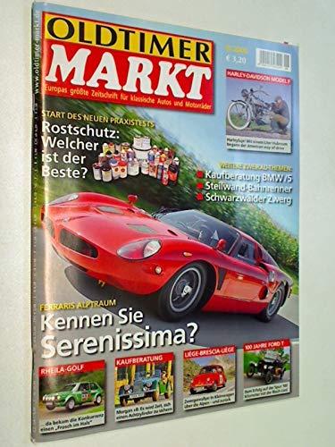 Oldtimer Markt 2008 Heft 9 : Rostschutz, Harley-Davidson Model F, Rheila-Golf