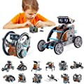 BOZTX 12-in-1 STEM Education DIY Solar Robot Toys Building Science Kits for Kids 10-12 Years Old Boys Birthday for 8 9 10 11 12 + Years Old Boys Creative Activity-Powered by The Sun