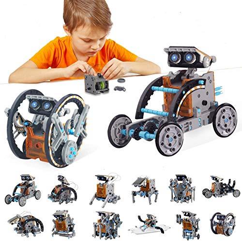 BOZTX 12-in-1 STEM Education DIY Solar Robot Toys Building Science Kits for Kids 10-12 Years Old...