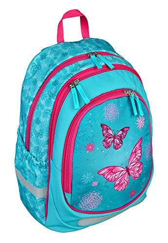 Undercover Butterfly Rucksack 3 Fächer mit Tragegriff Kindertasche Schulrucksack