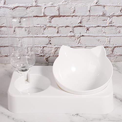 Tomanbery Botella de Agua del Principio del sifón del alimentador del Gato del Agua para el dueño de la Mascota Muy Ocupado 26x15x5CM(L)