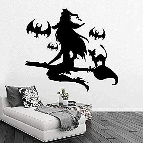 Wandaufkleber Halloween Charming Windows Wohnzimmer Schlafzimmer Dekoration Gemälde Pvc Wandaufkleber Schöne Hexe 42 * 52Cm