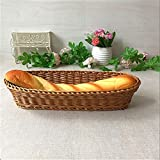 YSJJBTS Cesta Tejida Cesta de Pan de plástico Largo Tejido de Mesa de la Mesa de la Canasta del Restaurante Sirviendo cestas de exhibición for Verduras de Frutas
