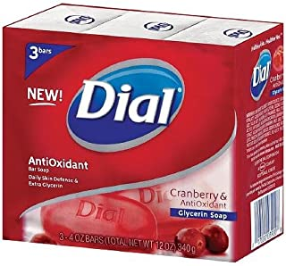 Dial Glycerin Bar Soap, Cranberry & Anti-Oxident 3 ea (3 pack)