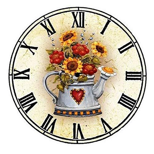 YSCOLOR Diamond Painting Diydiamond Mosaico Diamante Pintura Pintura Decorativa Punto De Cruz Una Imagen Reloj Decoración Familiar Adornos De Regalo Hechos A Mano 30X30cm