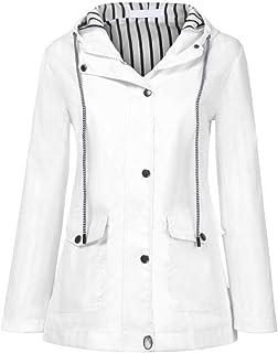 Yczx Women Rain Jacket Waterproof Trench Coat Outdoor Windproof Lightweight Windbreaker Hooded Raincoat Breathable Jacket ...